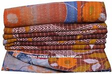 INDIAN REVERSIBLE KANTHA QUILT OLD VINTAGE PATCHWORK QUILTS BLANKET THROW GUDARI
