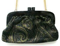 Mod Depositato Vintage Painted Leather Clutch Shoulder Bag Purse Lucite Italy