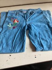 Rare Disney Store Little Mermaid Cotton Trousers 9/10 Years