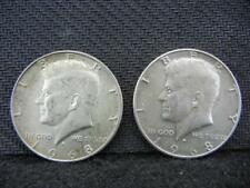 (2) 1968-D Kennedy Half Dollars - 40% Silver Lot 6B