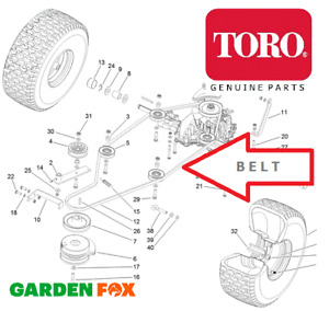 Genuine TORO DH220 Mdl 74596 31600001-999999 - Transmission BELT - 125-2243 O153
