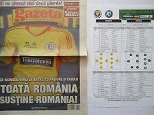Gazeta & Team Sheet LS 19.11.2013 Romania Rumänien - Greece Griechenland
