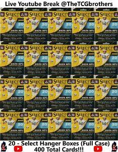 Kansas City Chiefs Break #648 Select Hanger Box (20 Boxes) Silver Prizm