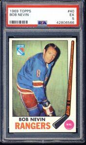 1969 Topps Hockey Bob Nevin #40 PSA 5
