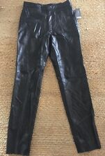 Remy Black leather pants women's size 10 By Remy New