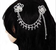 PRETTY & VERSATILE RHINESTONE 2-FLOWERS HAIR COMBS ACCESSORY