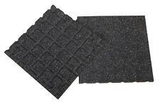 Aslon Rubber Tiles - Black - 400mm - Interlocking - Play Areas - Terraces