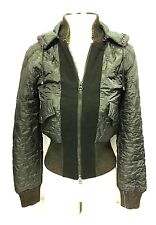 Missoni Womens Green down winter coat puffer jacket with Detachable Hood US Sz 2
