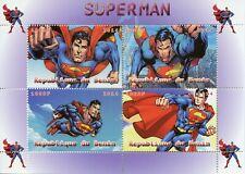 Superheroes Stamps 2014 MNH Superman DC Comics 4v M/S