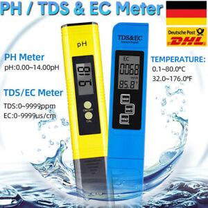 PH TDS&EC Meter Messgerät Digital Tester Wassertest Leitwertmessgerät 0-9990ppm