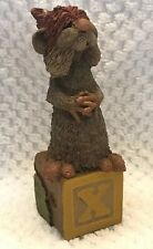 Alphabet Block Letter X Tim Wolfe Extra Terrestrial Thing Cairn #9115 Ed #65