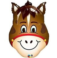 Spring Racing Melb Cup Giant Smiling Hilarious Horse Head Foil Balloon 81cm