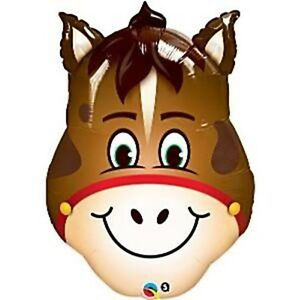 Smiling Horse Head Foil Balloon Large 81cm - Spring Racing Melbourne Cup Party
