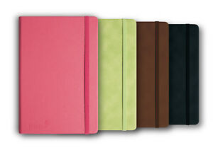 Silvine Executive Soft Feel Notebook with Strap Ruled Ivory Paper A6 A5 A4 NEW