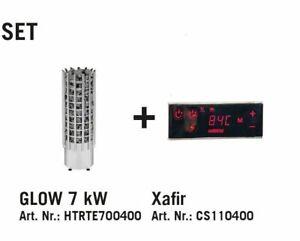 Harvia Glow E Saunaofen 6,8 KW inkl. 80 kg Saunasteine TRT70E und Harvia Xafir T
