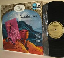 WAGNER Tannhauser Grand Opera Highlights LP Decca Gold Label Series DL 9928