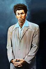 "SEINFELD Kramer `THE KRAMER ' painting blue *FRAMED* CANVAS ART Poster  16""X 12"""