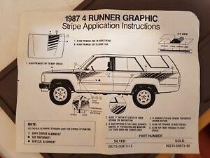 Genuine Toyota SR5 4 Runner Stripes Graphic Decal Kit, Incomplete