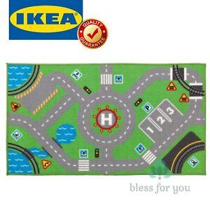 "IKEA STORABO Children Rug Green Roads Practicing Parking 29 1/2x52 3/8 """
