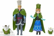 "Disney Frozen Toll Wedding Gift Set Dolls 4"" Anna Kristoff 2 Ttrolls New"