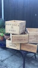 vintage wooden wine boxes (12 bottle size) for shabby chic storage