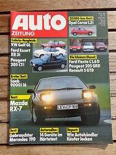 Auto Zeitung 86/11 VW Golf I Cabrio - Ford Escort XR 3i Cabrio - Peugeot 205 CTi