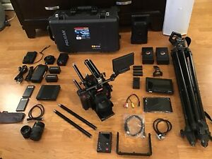 RED EPIC DRAGON X 6K CAMERA W/LOTS OF EXTRAS, LENS, REDBRICKS,TRIPOD,LCD,REDMOTE