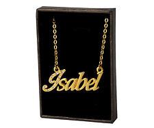 18k Plateó la Collar de Oro Con el Nombre - ISABEL - Regalos Para las Mujeres