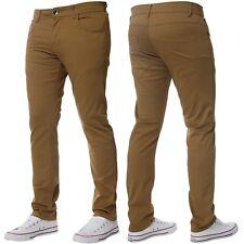 Hombre Kruze Diseñador Elástico Ajustado Pantalones Chinos