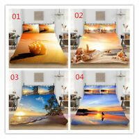 Beach Single/Double/Queen/King Bed Quilt/Duvet/Doona Cover Set Pillowcase