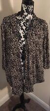Ladies Plus Size Yours size 22/24 Black and White Jacket Kimono Waterfall