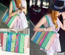 Rainbow Mint Shopper Tote Handbag Shoulder Bag Women Lady CSBAG2001