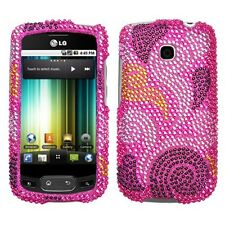Spiral Hearts Bling Hard Case Cover LG Optimus T P509