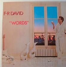 "F.R. DAVID - WORDS -     2934 153     - 12"" LP (K213)"