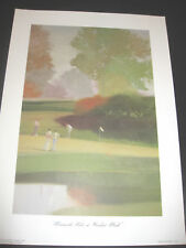 CROOKED STICK PRINTS*1991 PGA* 17x24 READY 2 FRAME*C.W.MUNDY ARTIST* *16th Hole*