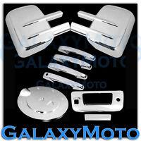 07-13 Silverado+Sierra Chrome Tow Mirror+4 Door Handle+Tailgate+Camera+Gas Cover