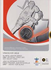 Canada 2007 25 cents quarter First Day Mintage 2010 Vancover Olympics