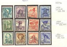 TIMBRES SUISSE PRO JUVENTUTE OBLITERES ANNEES 1938 - 40 COTE 30€