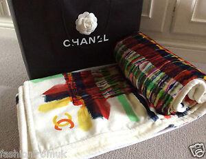 """CHANEL  Multicolour Cotton Large Towel  76"""" X 52"""""""
