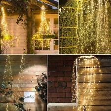 Outdoor LED Solar Lights Waterfall String Fairy Icicle Party Lights Garden H7F5