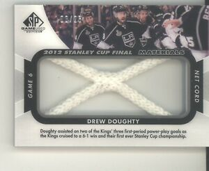 Drew Doughty card 08/25 2012-13 SP Game Used Stanley Cup Final net cord NM Kings