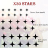 Snowflake Window Stickers Christmas Snowflakes Decal Stars Shop Home Sticker
