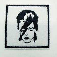 "DAVID BOWIE Embroidered Iron On Patch 3 "" X 3 "" ZIGGY STARDUST"