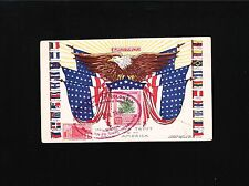 WWII Patriotic Latin South America Postcard Flags Columbia 1942 EARLY Censor Ö
