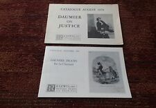 Honore Daumier Collection R E Lewis print Catalogs Wittrock lot of 2 1970 1989