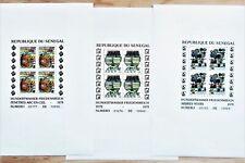 Senegal 1979 - Tabelaux F. Hundertwasser -3v ,Yvert# 524/6 - 3 Blocs - Grands **