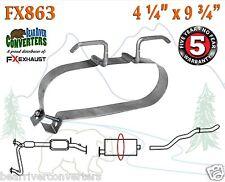 "FX863 Muffler Strap Exhaust Repair 4 1/4"" x 9 3/4"" w/ Bracket Hanger Rod"