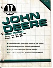 New listing John Deere Model A, B, G, H, D, M, Mt Shop Manual by I&T Shop Service