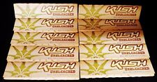 10 Packs KUSH UNBLEACHED King Size Slim Cigarette Rolling Papers Free Shipping
