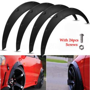 """3.1""""/80mm Universal Flexible Car Fender Flares Extra Wide Body Wheel Arches 4PCS"""